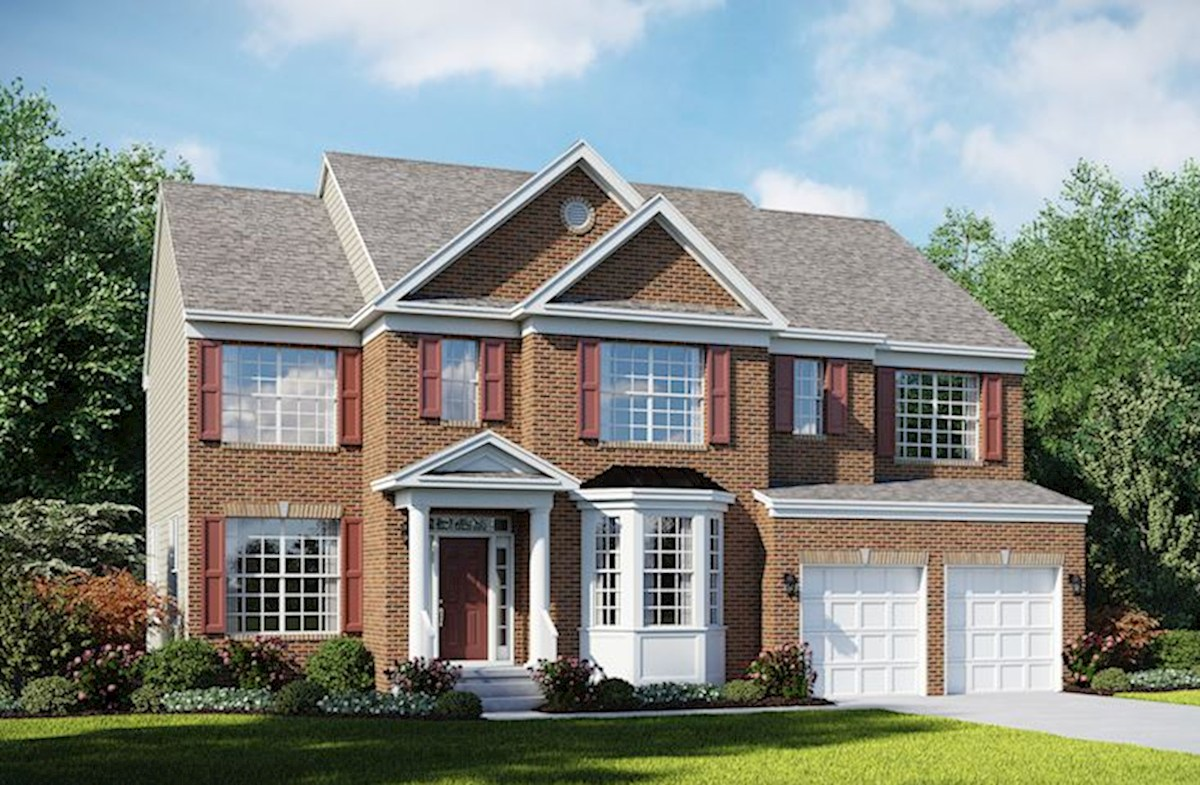 Lexington L with full brick front & bay window