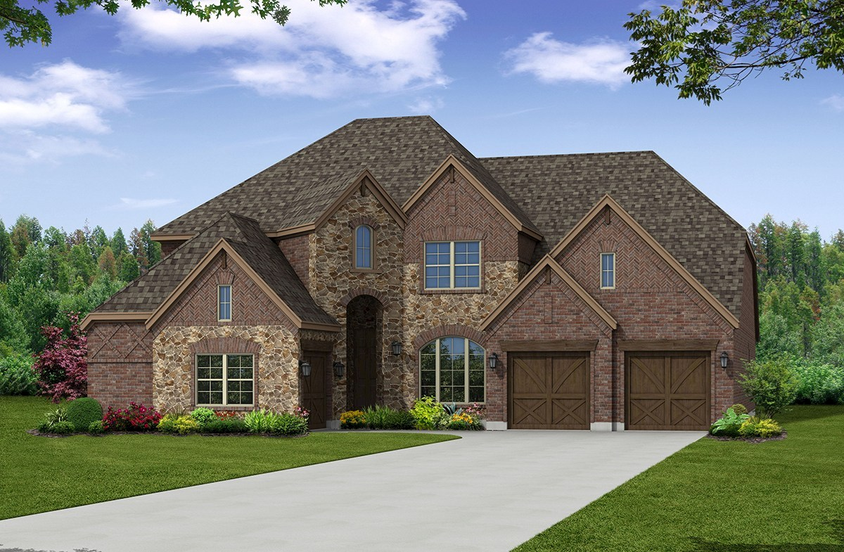 Chateau Elevation French Country U