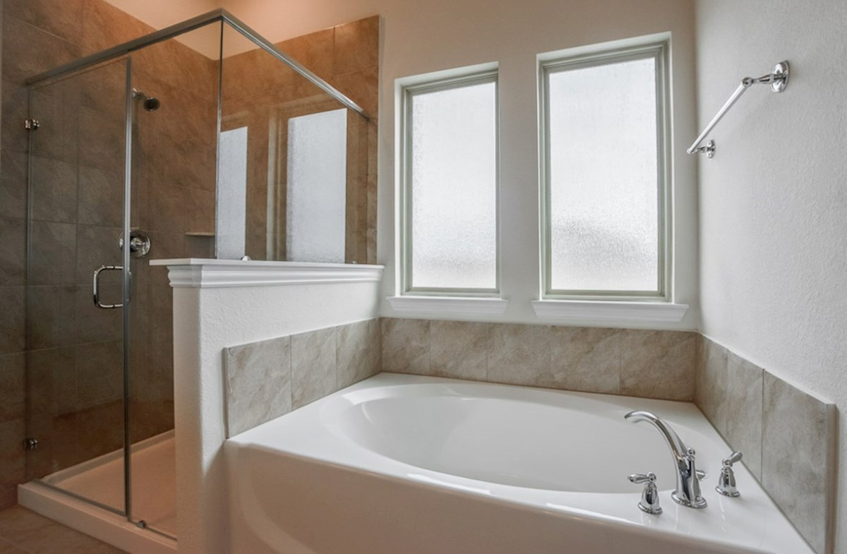 Brazos quick move-in master bathroom separate tub and shower