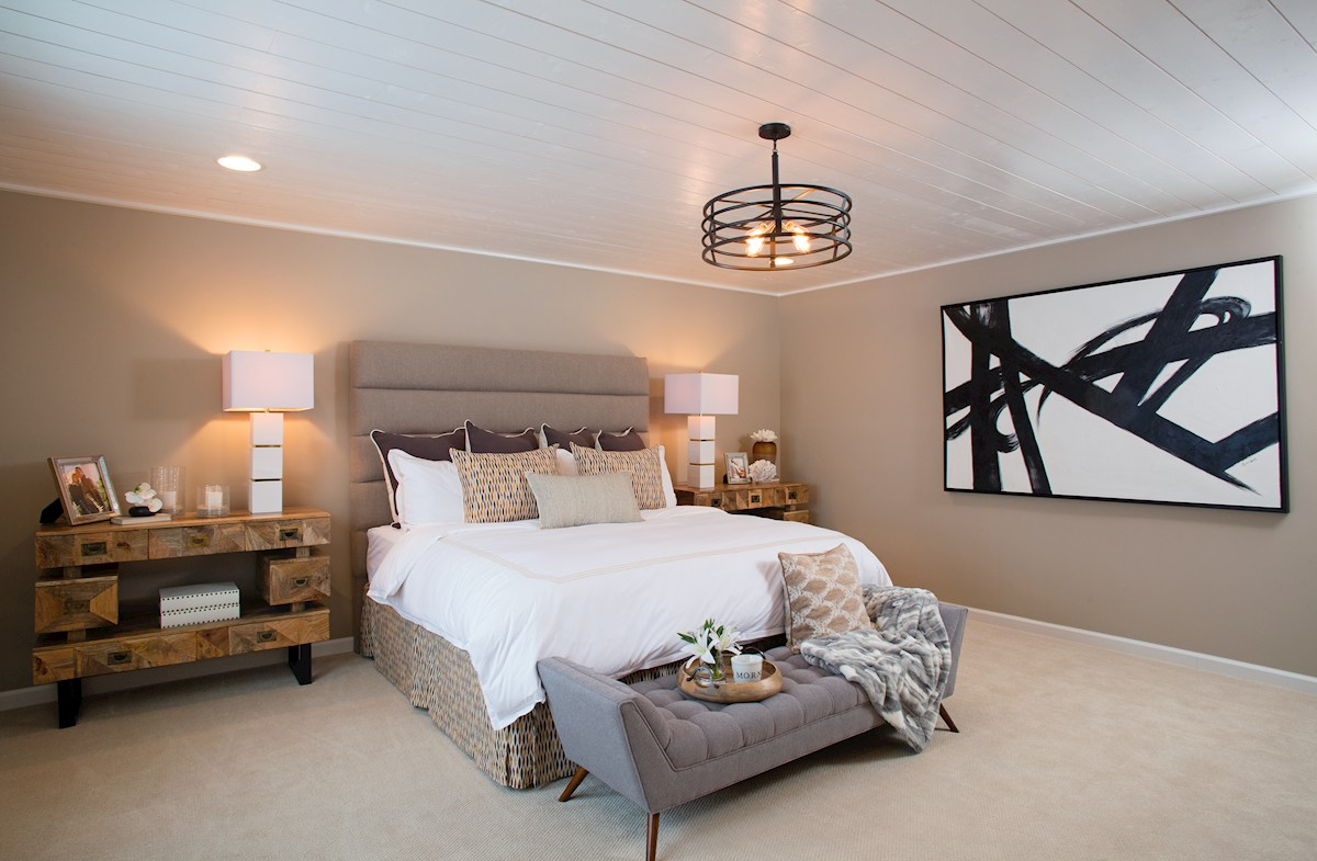 Master bedroom in the Whitely Plan