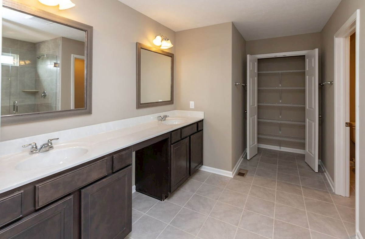 Lawrence quick move-in Dual vanities and linen closet