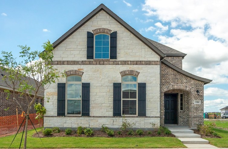 Brenham Elevation French Country L quick move-in
