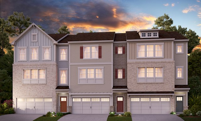 Three-story townhome with 2-car garage video