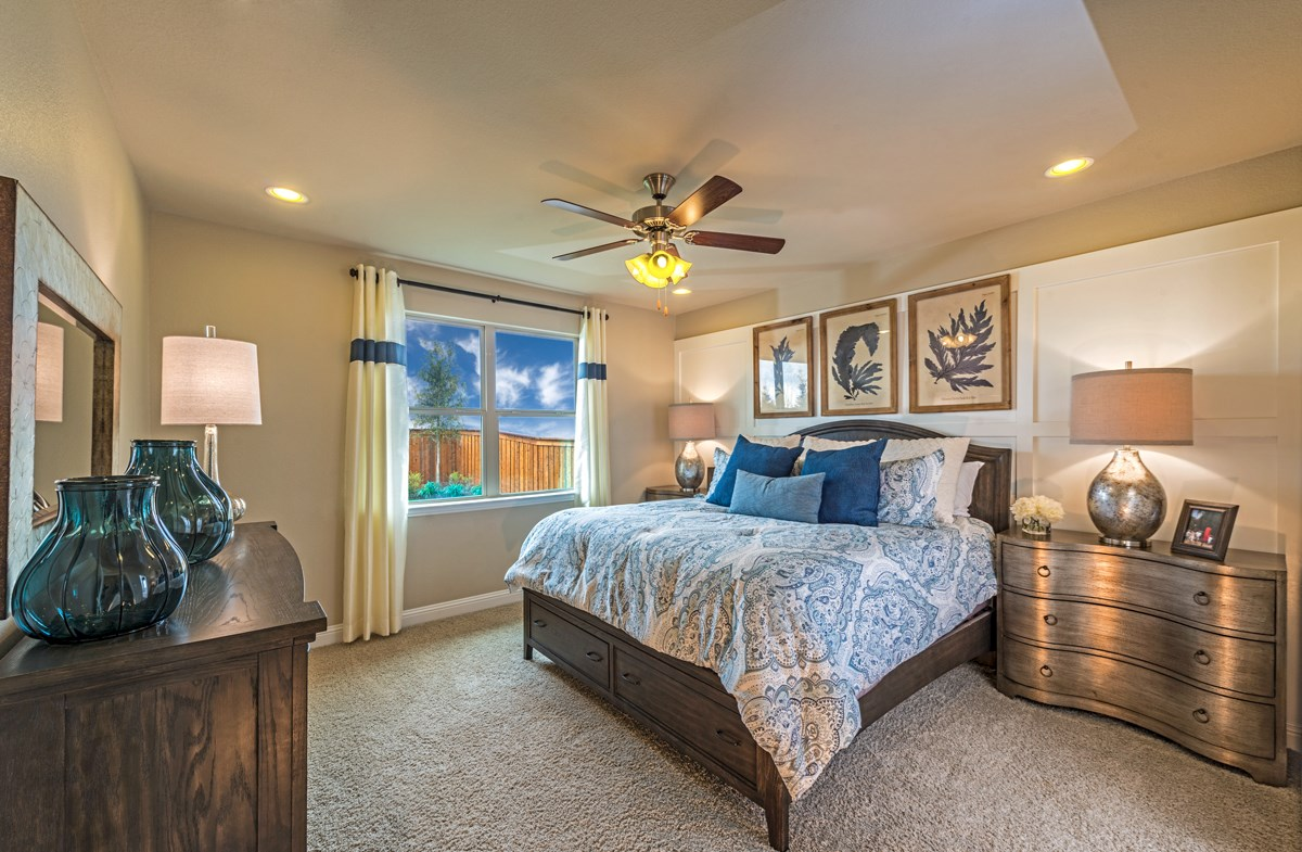 master bedroom with exterior windows