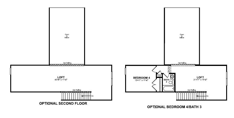 Main floor plan for Optional Loft