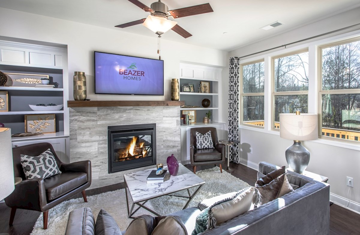 Spring Creek Place Lexington Family room with fireplace