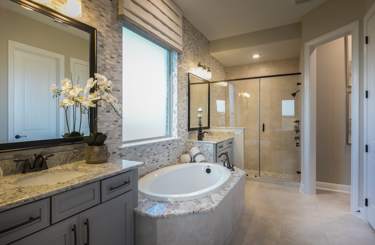 Young Ranch Aldrin light filled master bathroom