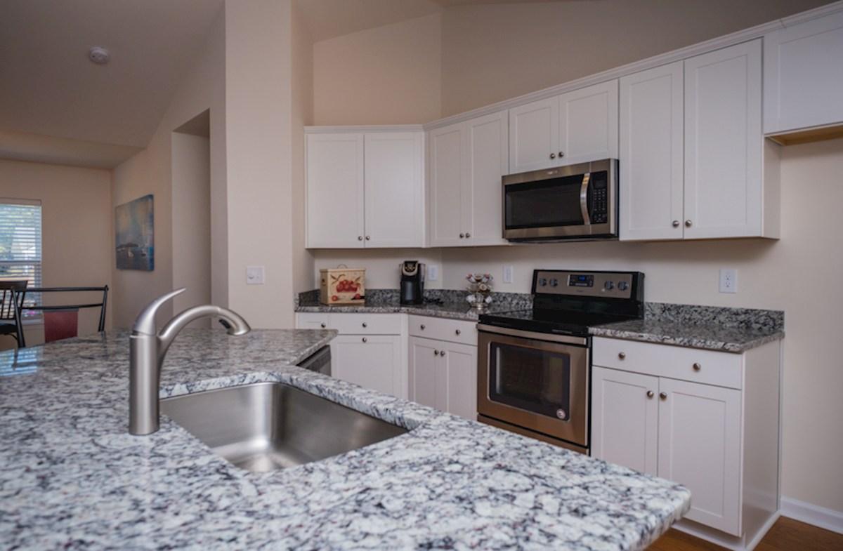 Summerton quick move-in granite counters in kitchen