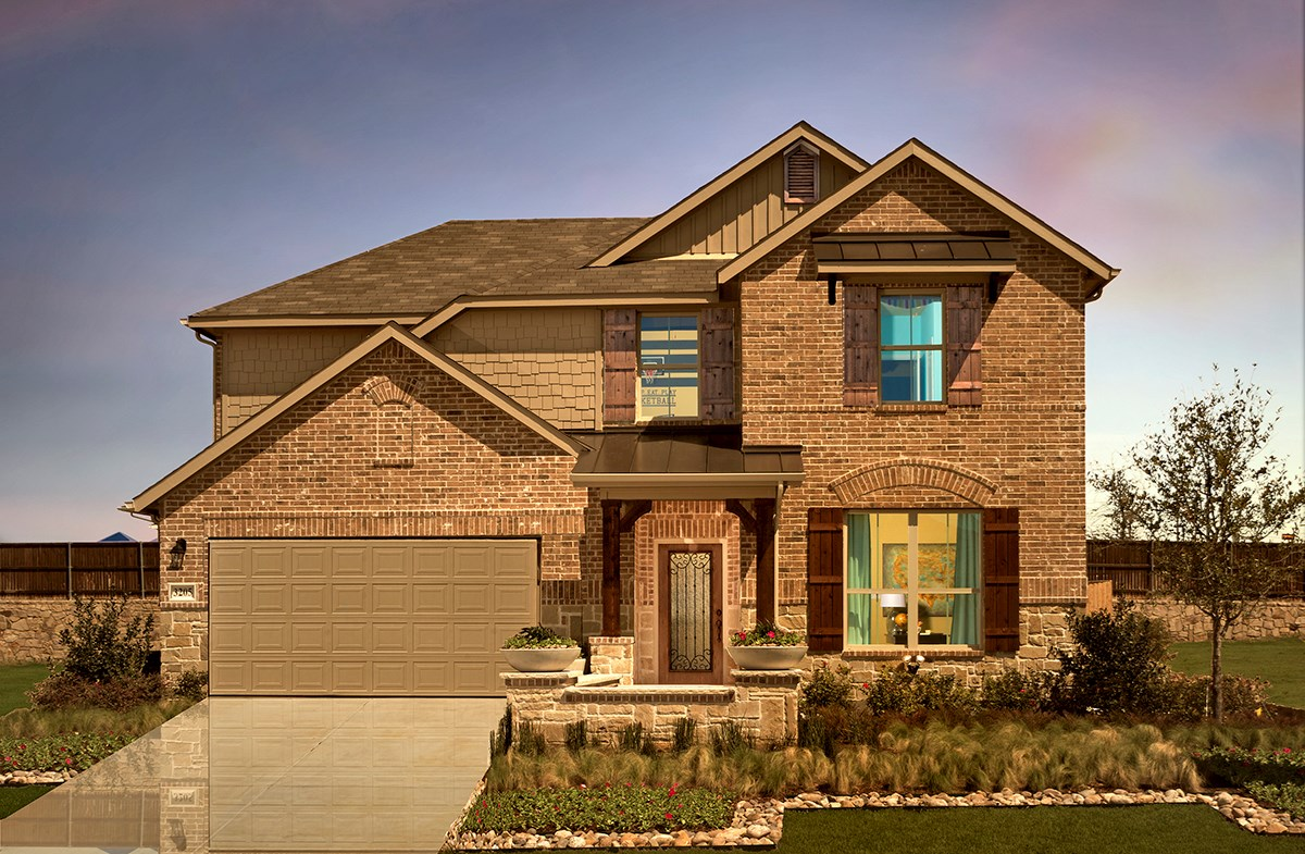 Avalon model featuring brick exterior