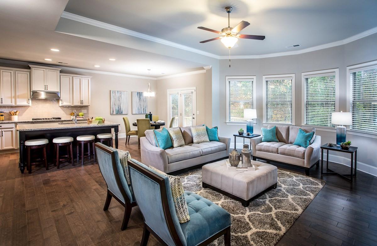 Family Room with hardwood floors