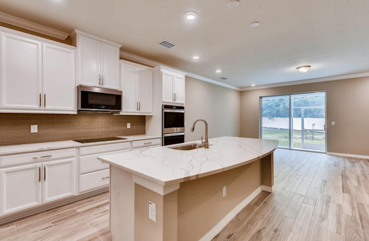 Kemerton Place Key Biscayne open-concept kitchen overlooking great room
