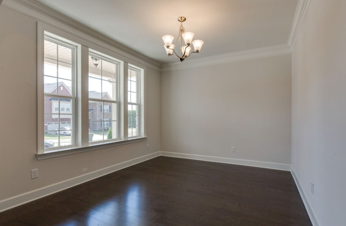 Oxford quick move-in formal dining room with double windows