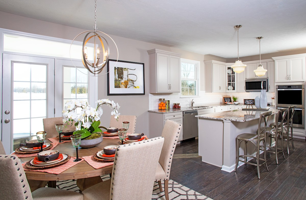 Hampshire Crossroads Collection  Lawrence Kitchen with sunny breakfast area