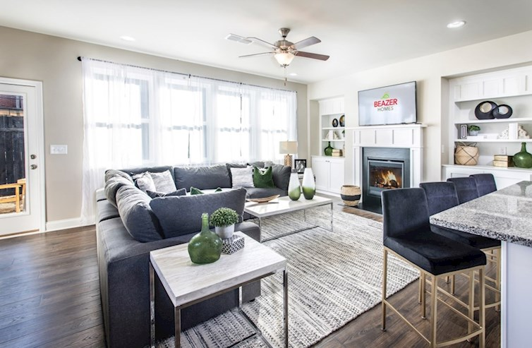 Alexander Family Room with fireplace and built-ins