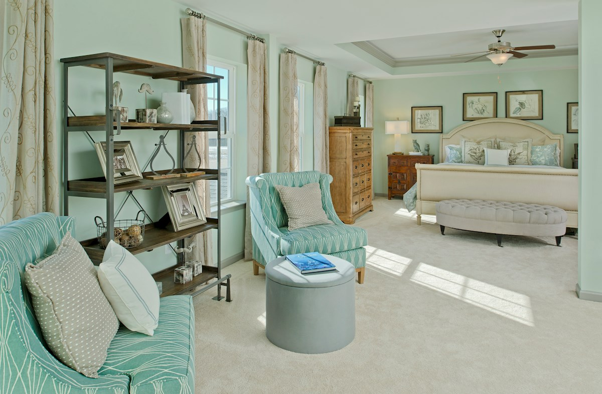 The Preserve at Windlass Run - Single Family Homes Pembrooke sitting room in master