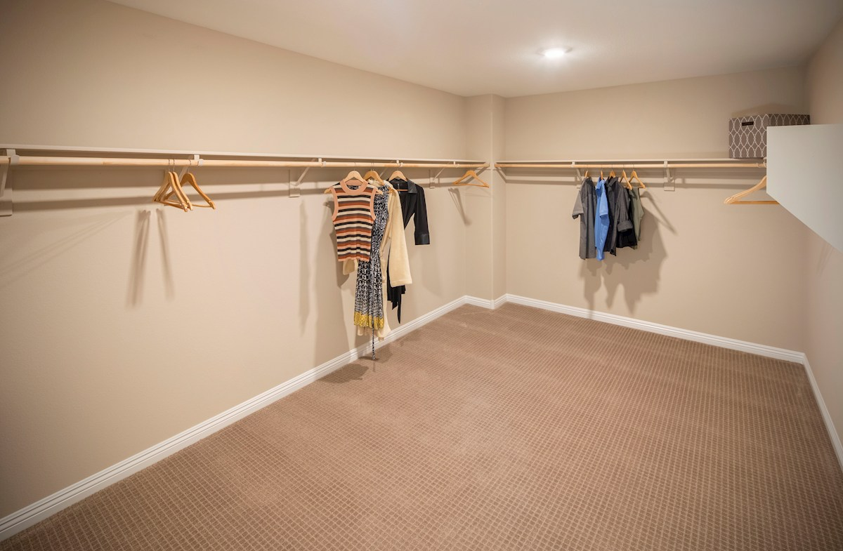 vast master walk-in closet in the Valencia