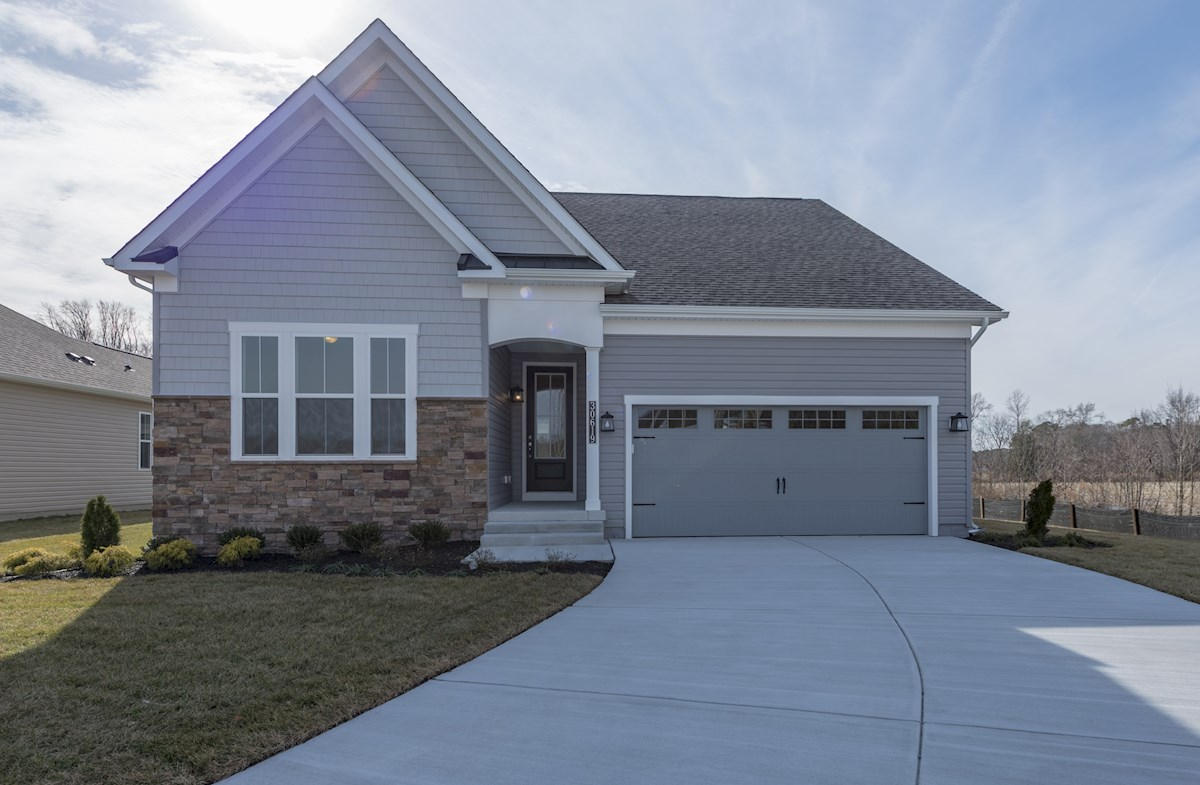 Darley American Heritage Shingle  quick move-in Darley exterior with stone accent