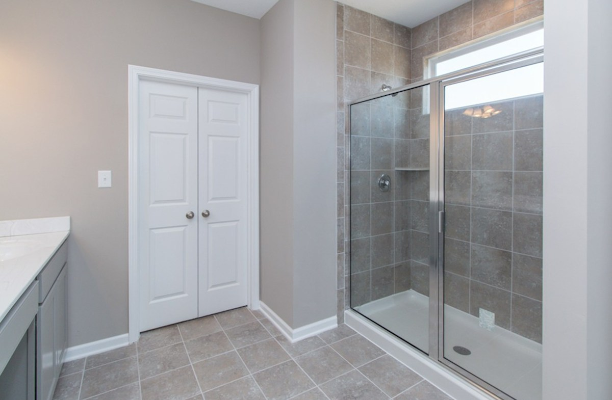 Greenwich quick move-in Master bath with tiled shower