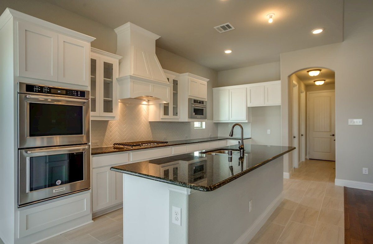 Summerfield quick move-in open kitchen with white cabinets