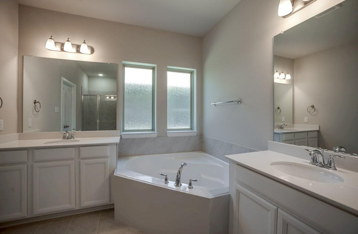 Prescott quick move-in master bath with corner tub
