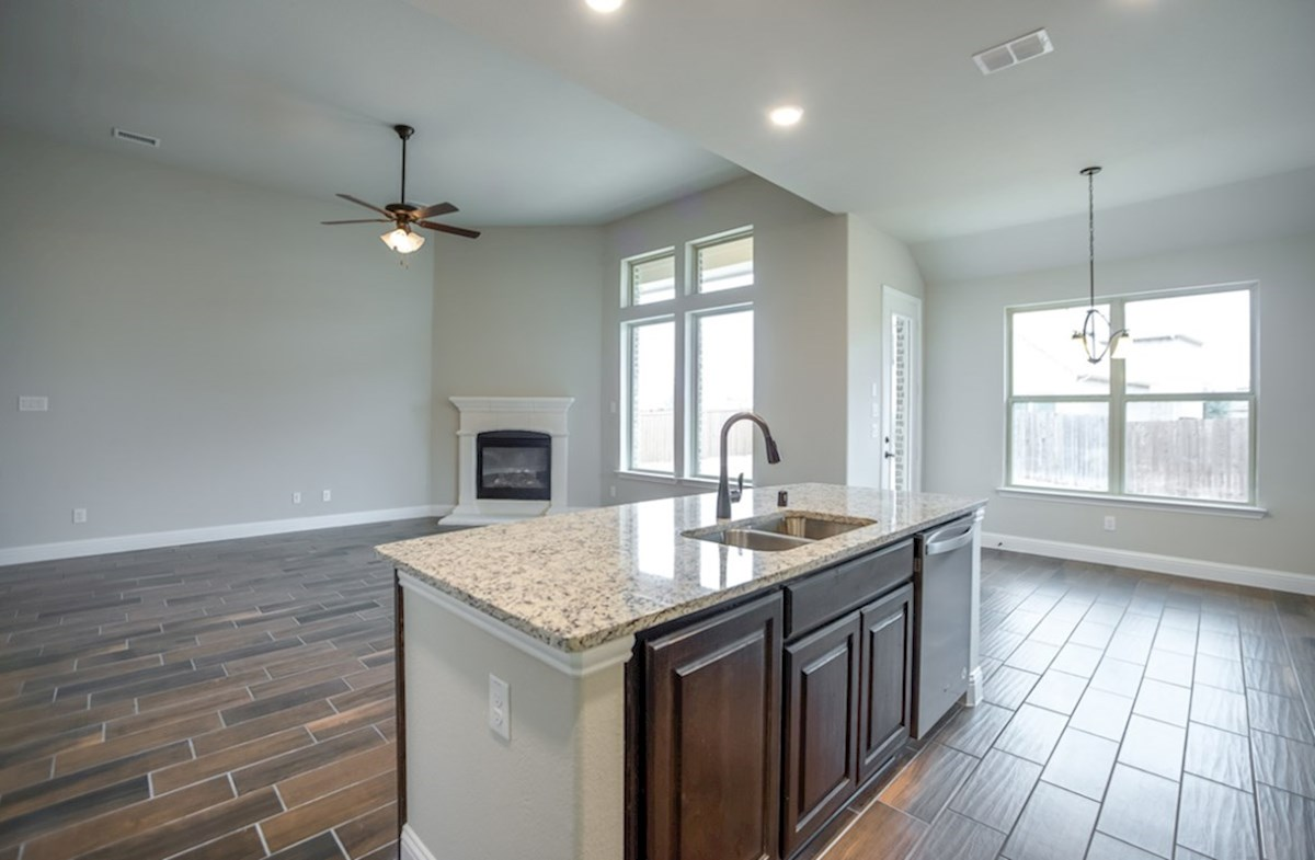 Blakely quick move-in natural lighting in kitchen and great room