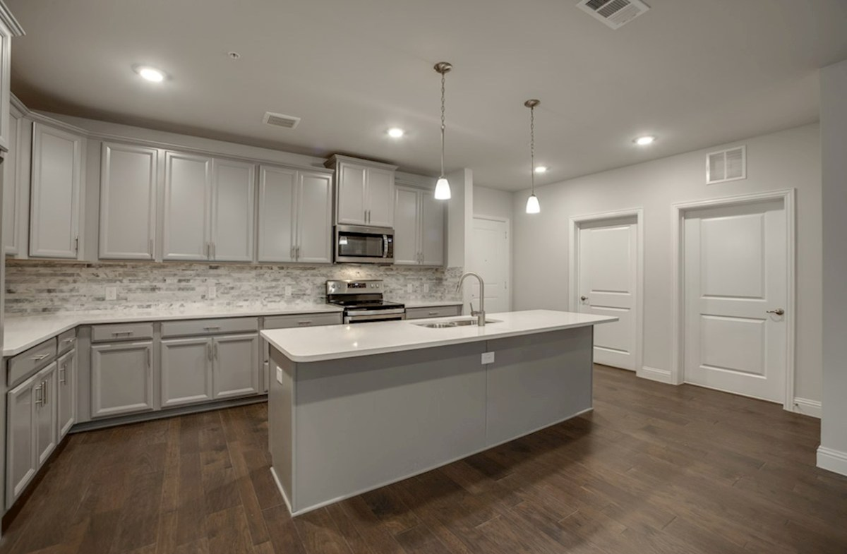 Dorset quick move-in kitchen with stainless steel appliances