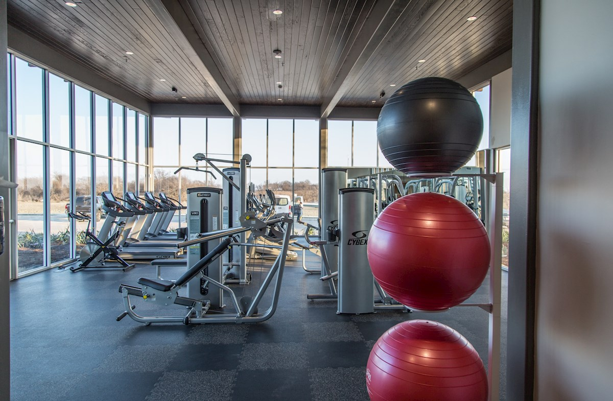equipment filled community fitness center