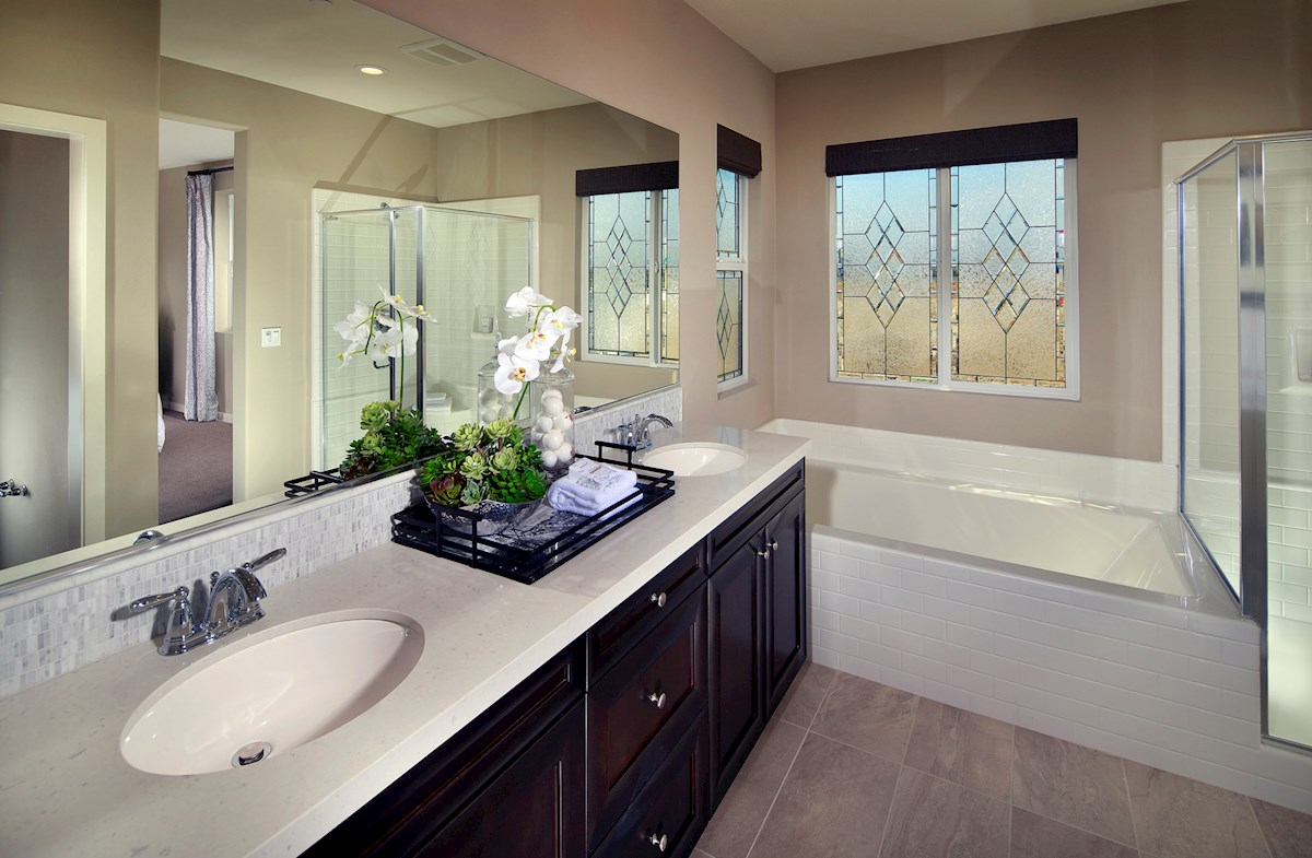 Suncup spa-inspired master bathroom