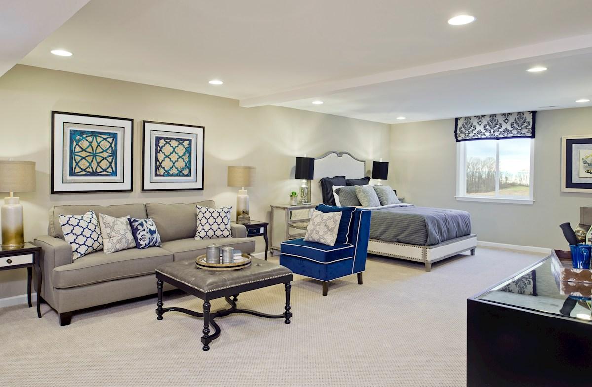 Basement bedroom in the Lexington