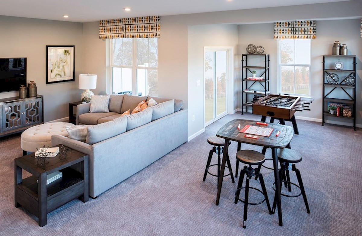 Riverwalk at Crofton Townhomes Annapolis Annapolis recreation room provides additional space