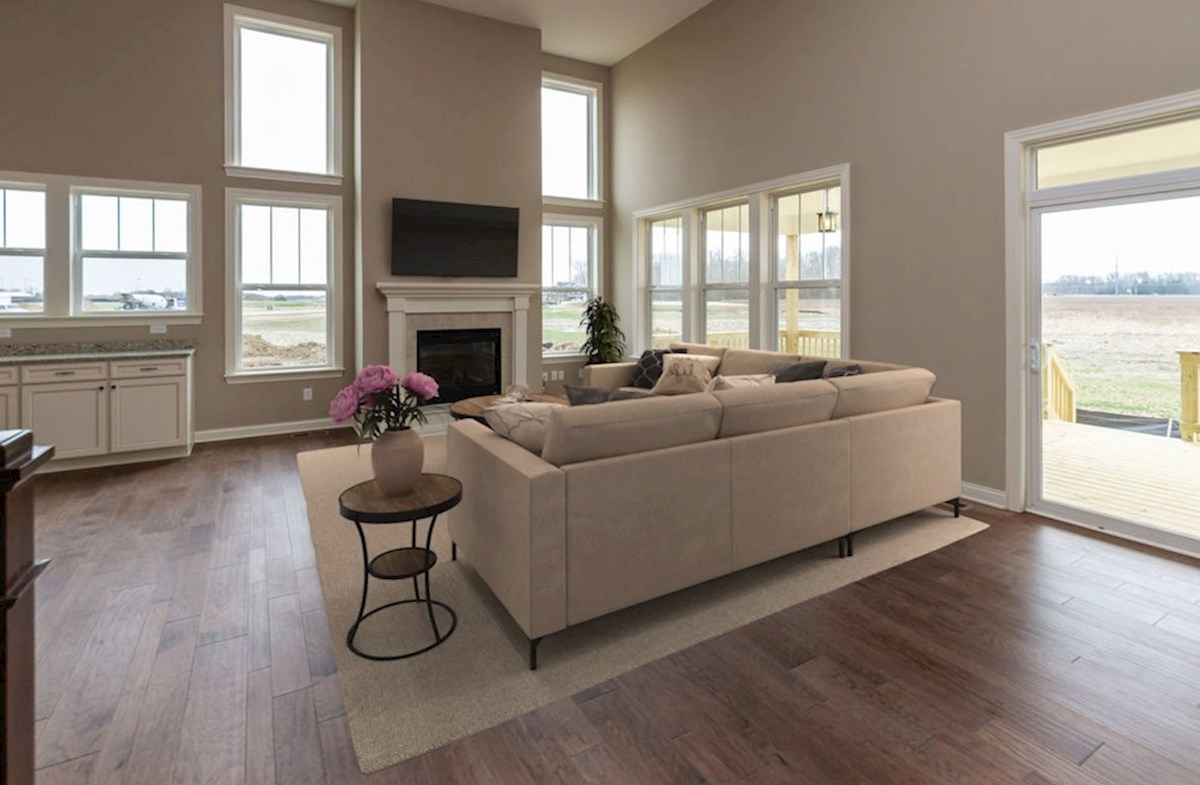 Kessler quick move-in Entertain in this open great room with fireplace
