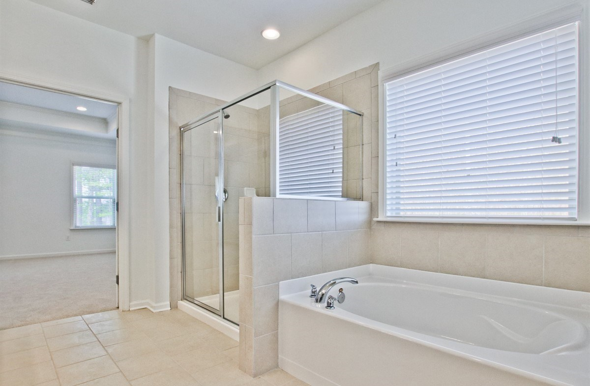 Laurel quick move-in Master Bathroom with garden tub and stand-alone shower