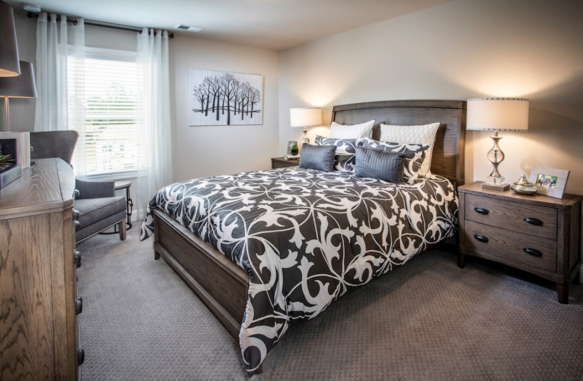 Milford Point Ridgecrest Secondary Bedroom with carpet