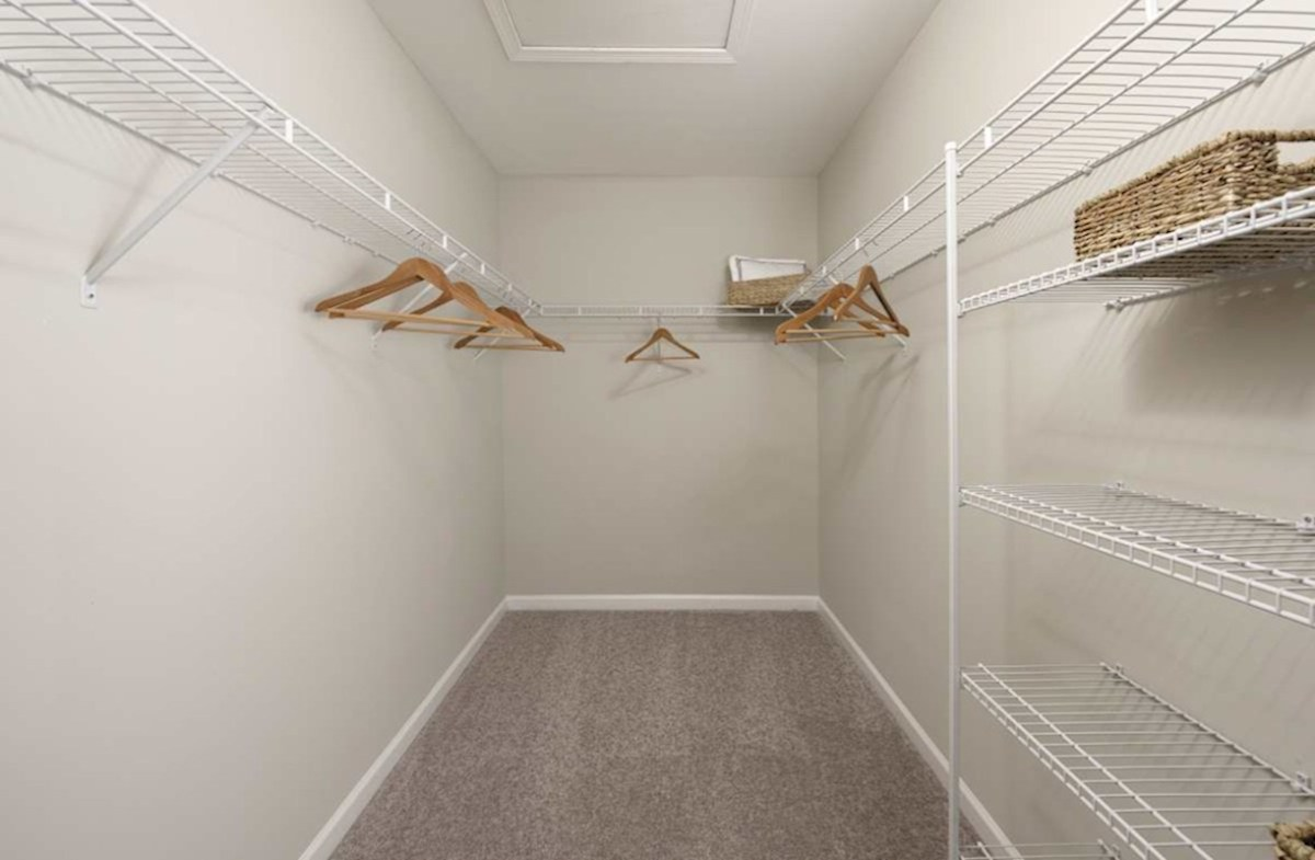 The Preserve at Windlass Run Townhomes  Vienna Walk-in closet in the Vienna Master Bedroom