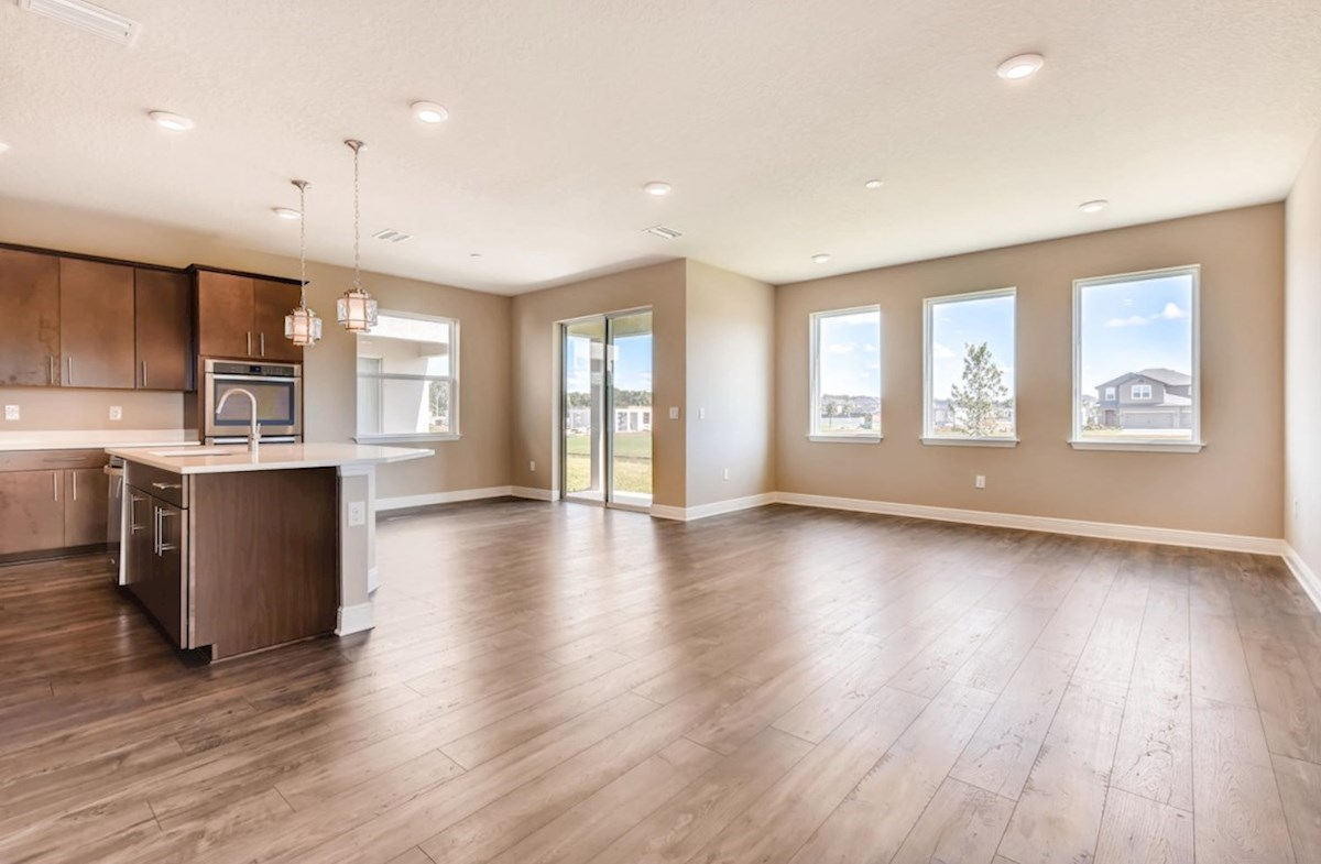 Lucia Bay quick move-in Open concept kitchen, great room and breakfast nook