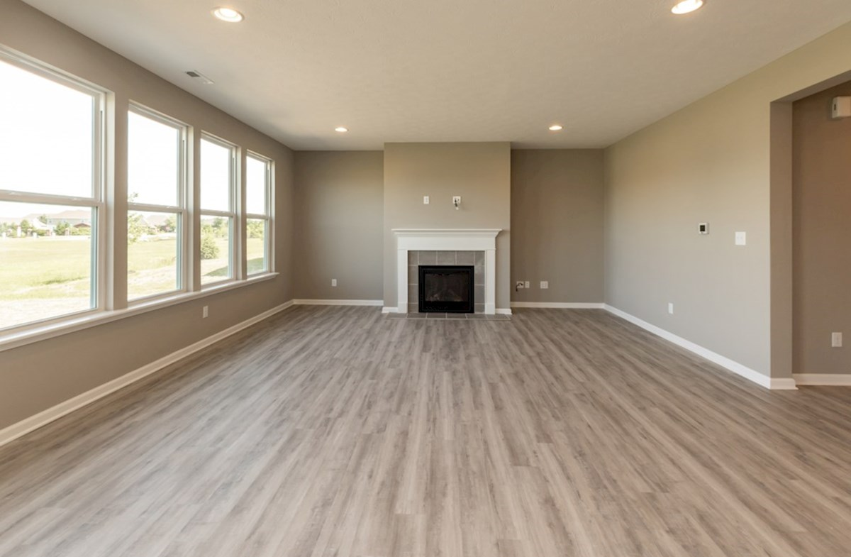 Shelby quick move-in Great room with fireplace