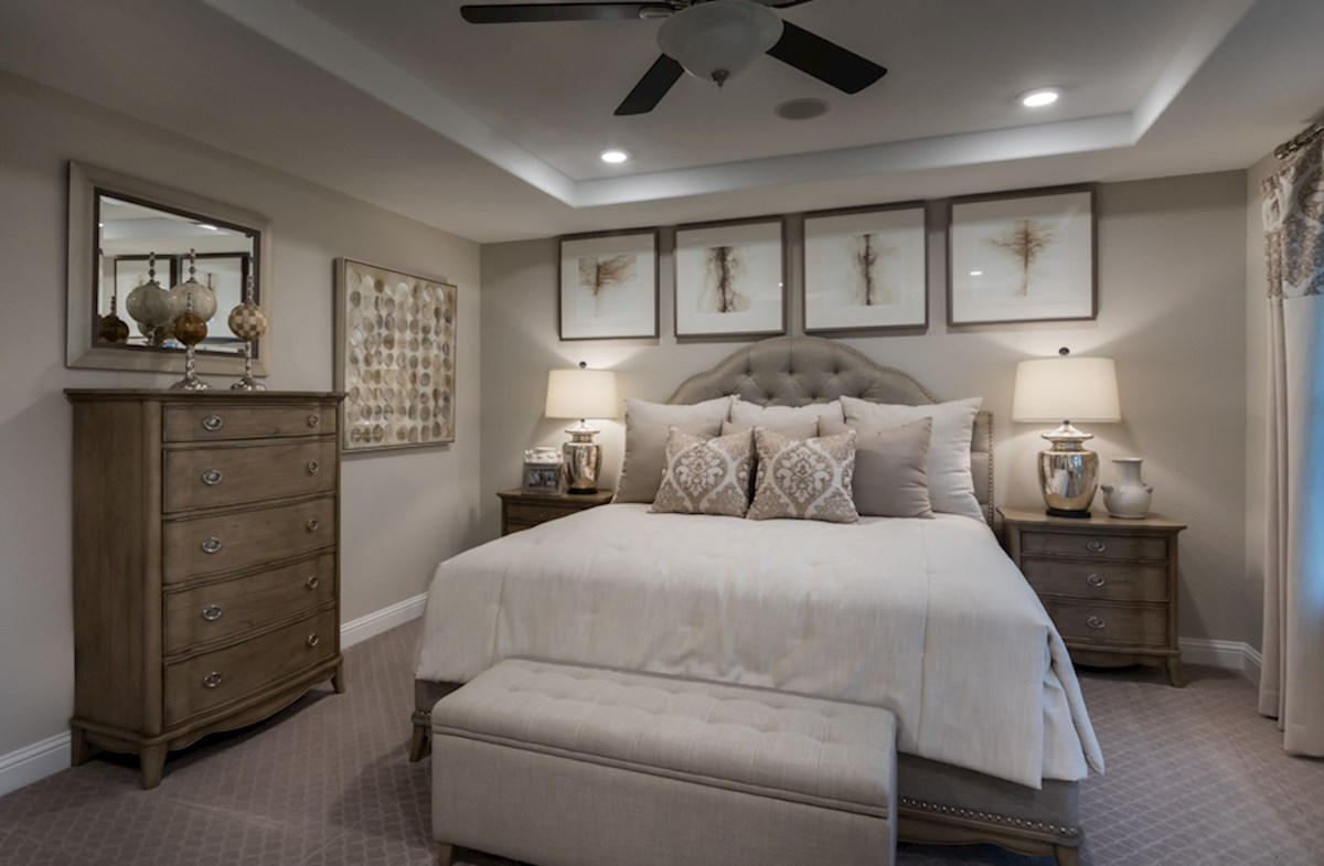 Sycamore master bedroom with tray ceiling