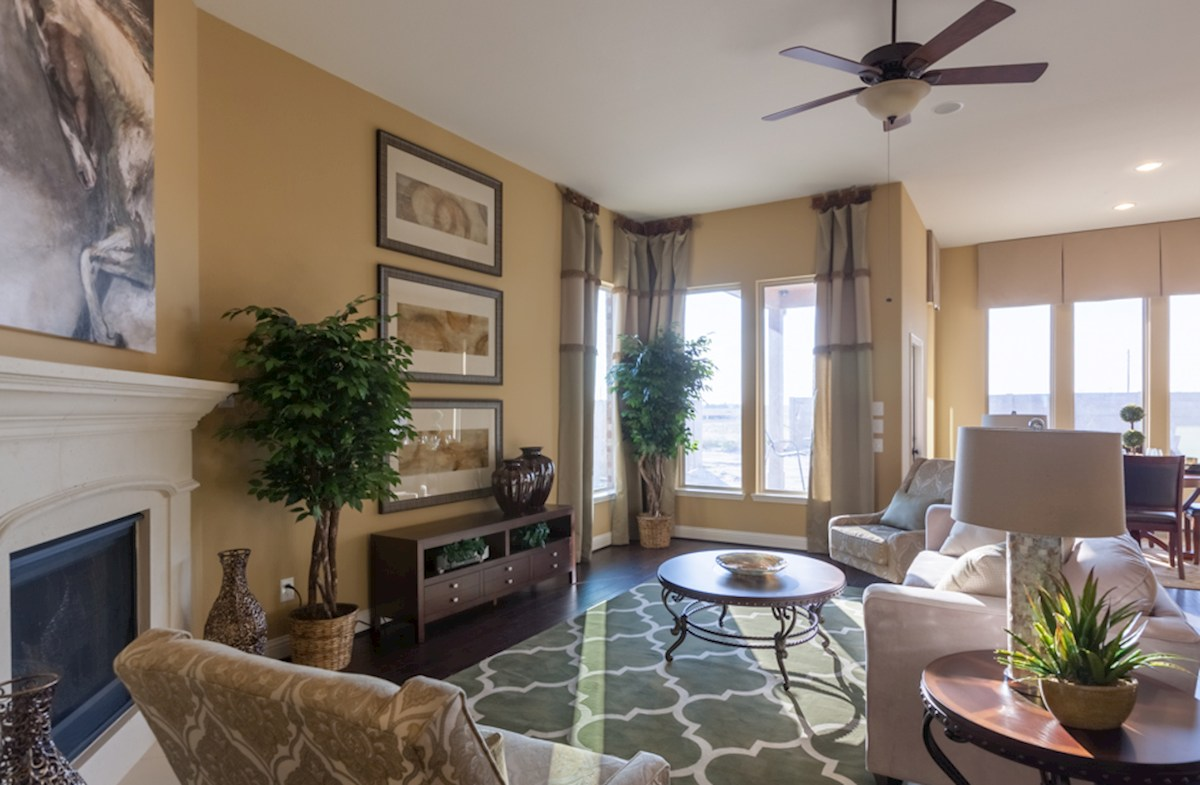 King Crossing Galveston  great room with hardwood flooring