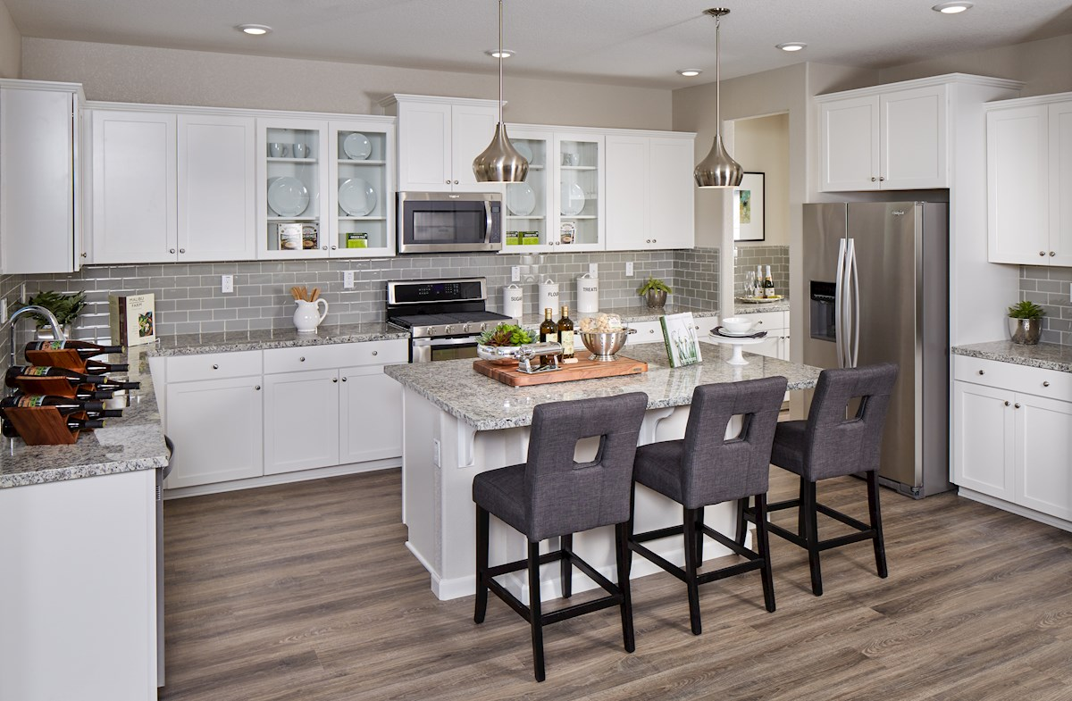 Trinity kitchen features granite countertops