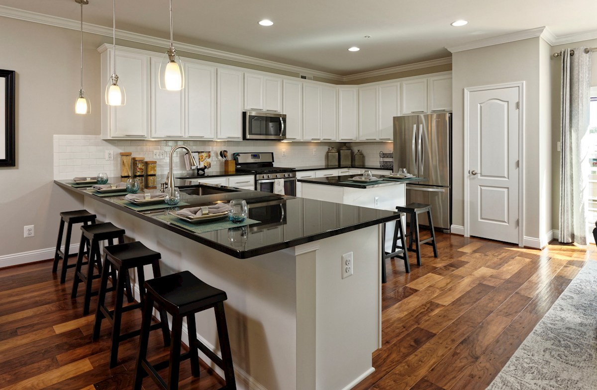 The Preserve at Windlass Run Townhomes  Frederick II  Kitchen with granite countertops