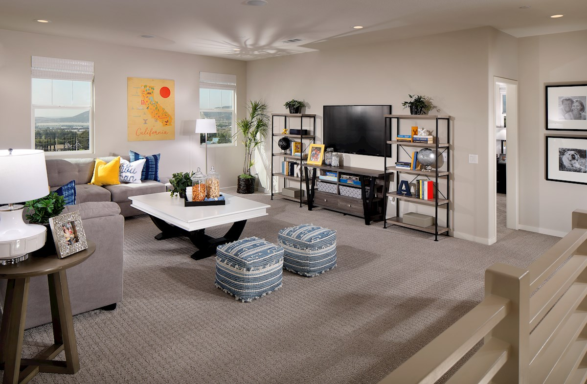 versatile loft space for work or play