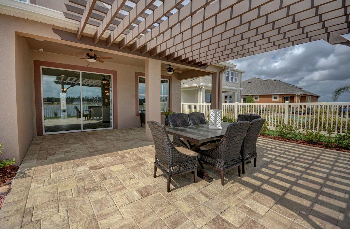 Long Lake Ranch Redwood paver patio pergola