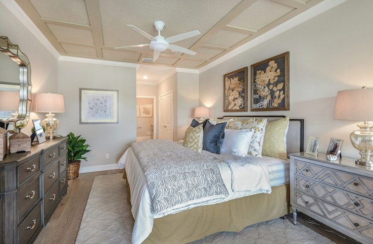 Gatherings® at Indian Lake Dorset inviting master bedroom