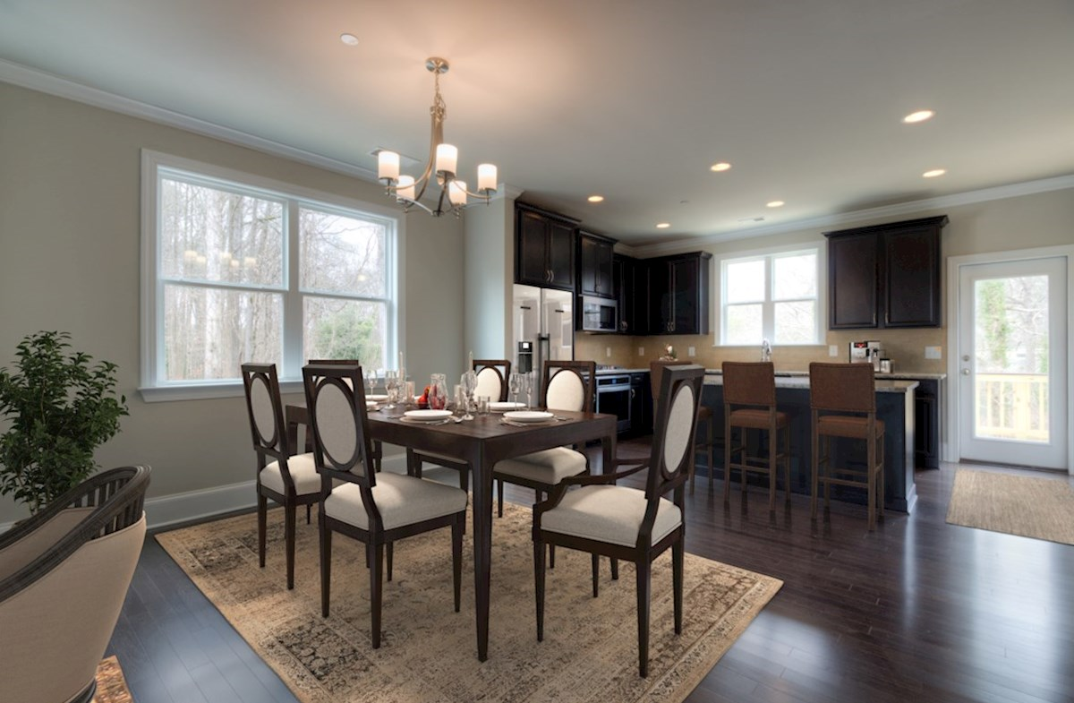 Highland Park Norwich Open concept Dining Room and Kitchen