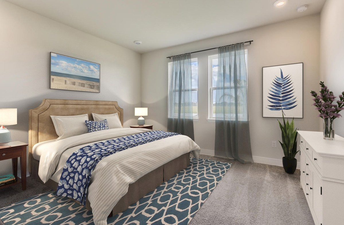 Reserve at Citrus Park Estero Master Bedroom with windows for natural light