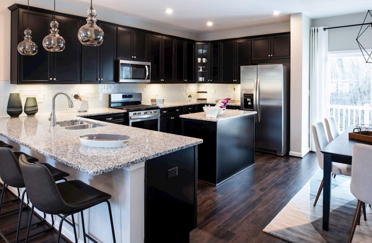 Riverwalk at Crofton Townhomes Potomac Potomac kitchen featuring stainless steel appliances