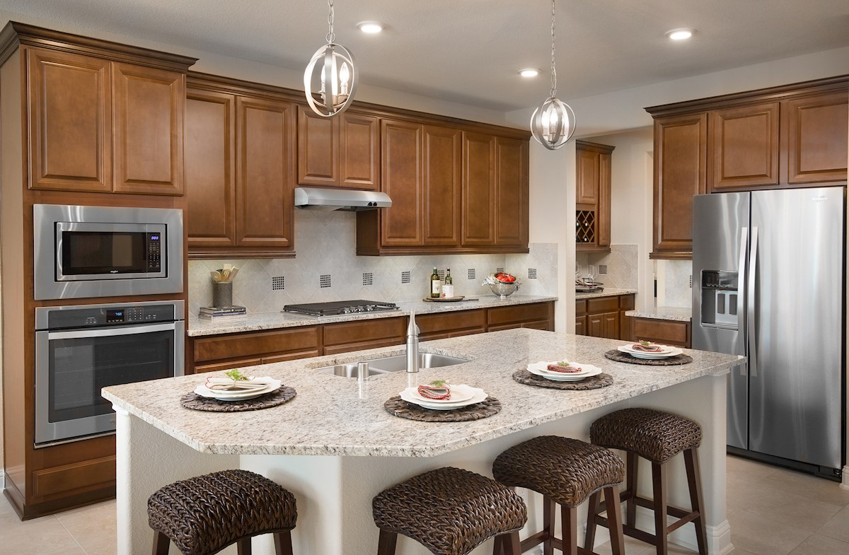 Fenway kitchen offers a granite island