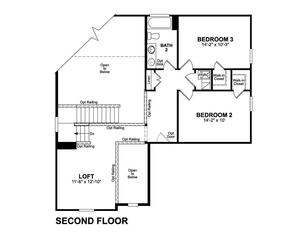 Main floor plan for 2nd Floor