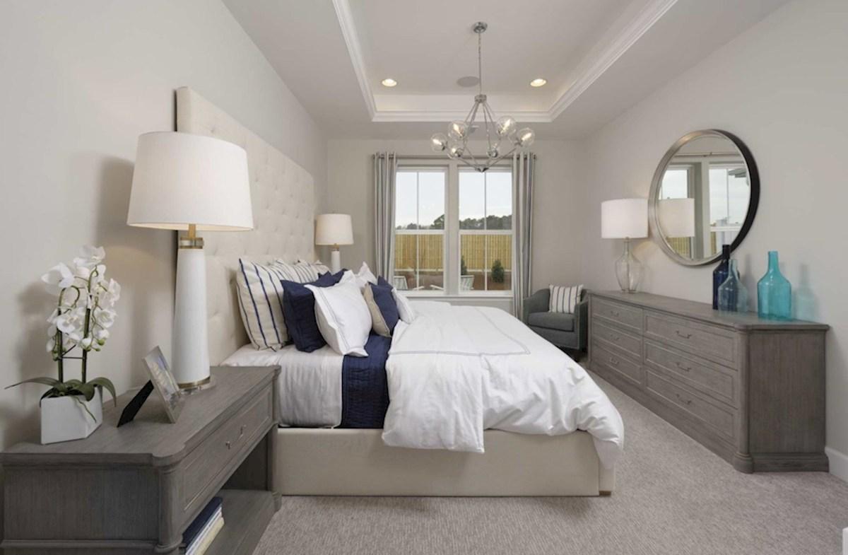 Heron's Ridge at Bayside Bethany Bethany Master Bedroom with box cieling