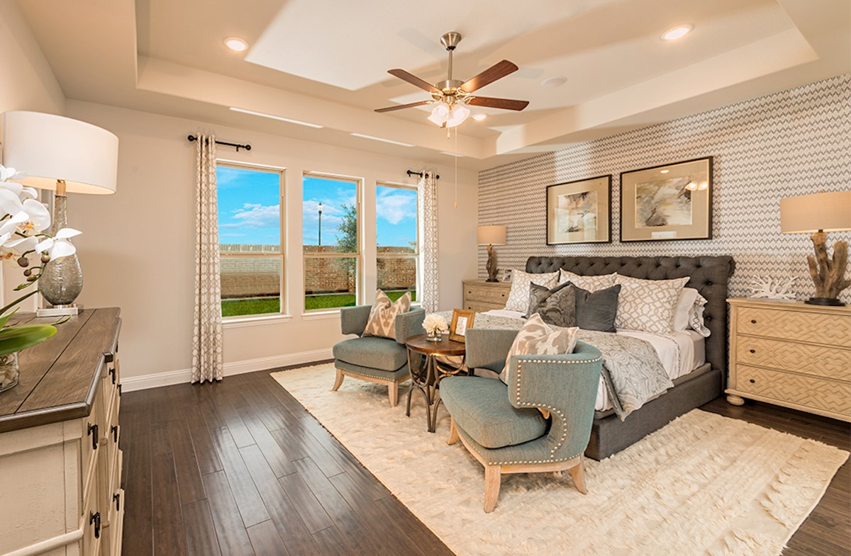 Blackburn master bedroom with tray ceiling
